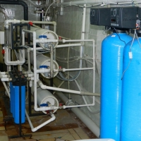 Water purification for water bottling plants
