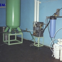 Water treatment for local water supply points and water stores
